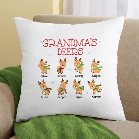 Gối vuông Grandma Deers